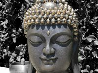 black-and-silver-buddha-statue-bust-metallic-decor-16-inch-height-spiritual-gift-ideas-buddhist-decor