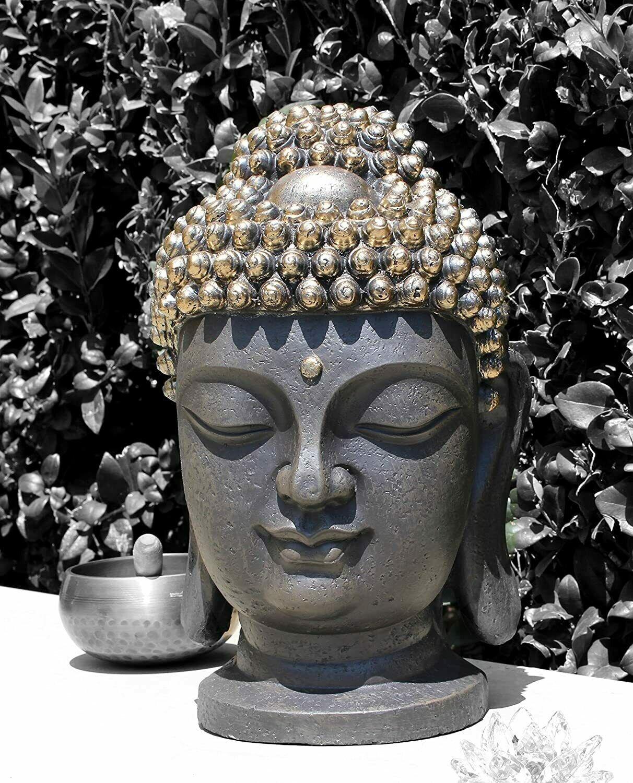 black-and-silver-buddha-statue-bust-metallic-decor-16-inch-height-spiritual-gift-ideas-buddhist-decor