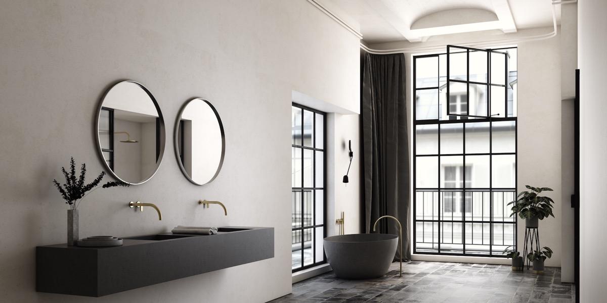 black-double-bathroom-vanity
