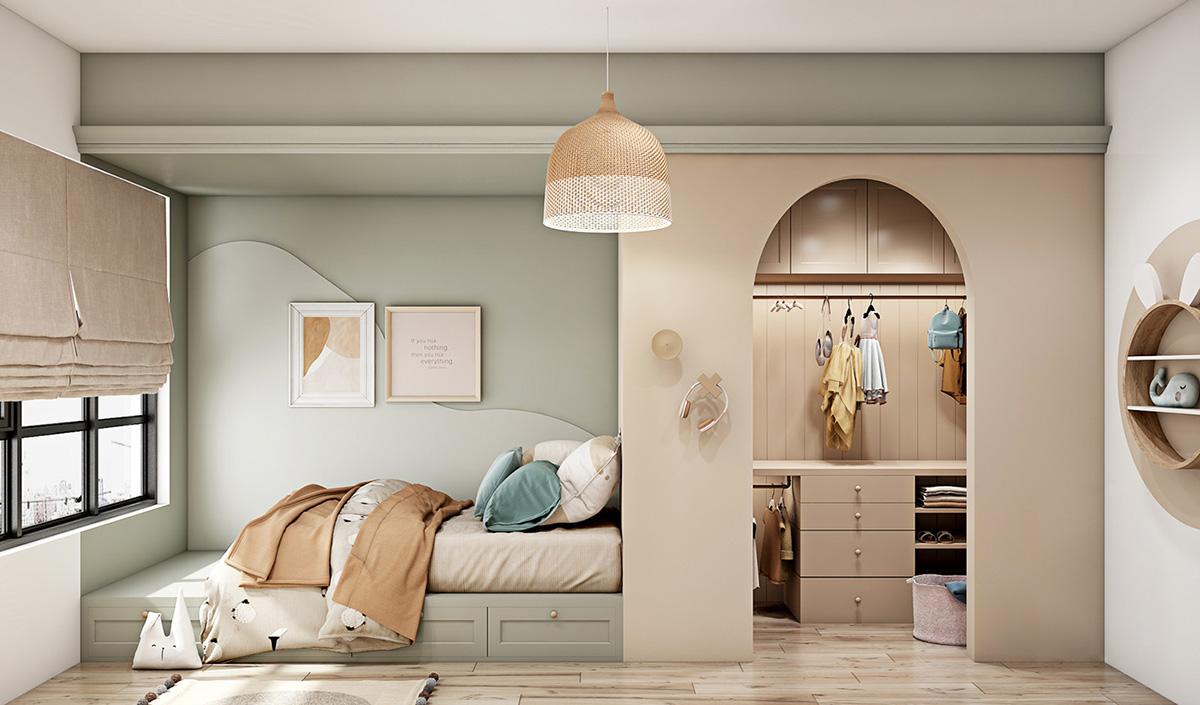 blue-and-beige-kids-room