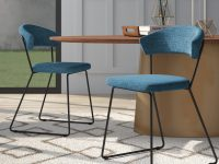 blue-upholstered-dining-chairs-modern-sled-base-curved-back-padded-seat-and-backrest-minimalist-modern-dining-room-furniture-ideas