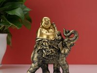 buddha-elephant-statue-feng-shui-gift-idea-intricate-detailing-gold-finish-7-inches-tall-spiritual-home-decor