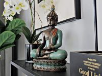 buddha-statue-for-sale-online-13-inch-teal-and-orange-lotus-flower-base-beautiful-gift-or-spiritual-decoration