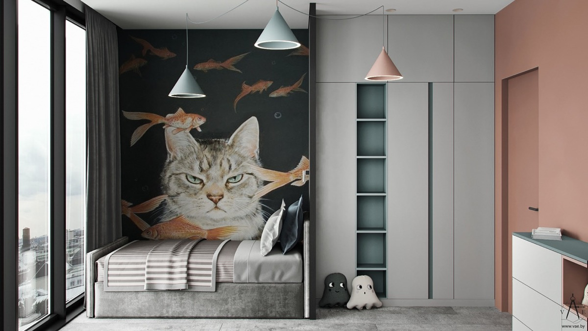 cat-themed-kids-room