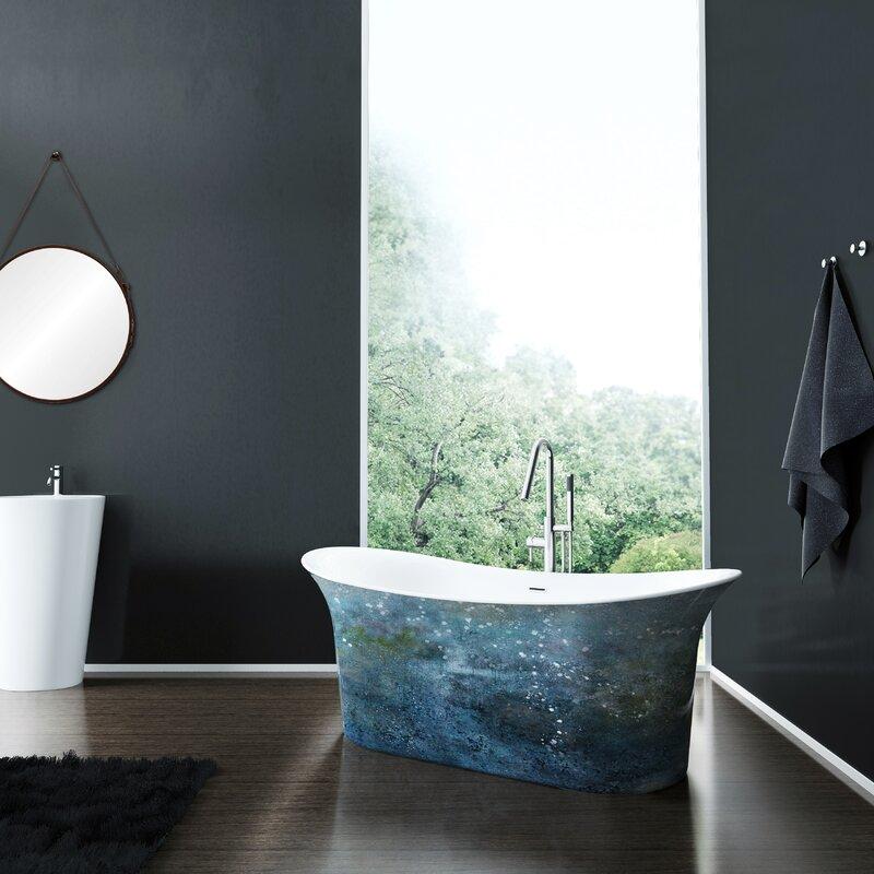 colorful-blue-bathtub-freestanding-double-slipper-design-artistic-painted-tub-exterior