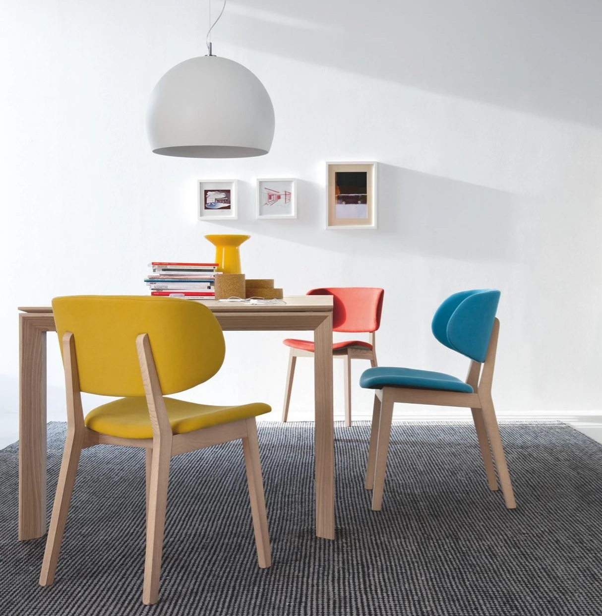 colorful-modern-upholstered-dining-chairs-for-Scandinavian-furniture-theme-solid-wood-base-cotton-fabric-unique-modern-design
