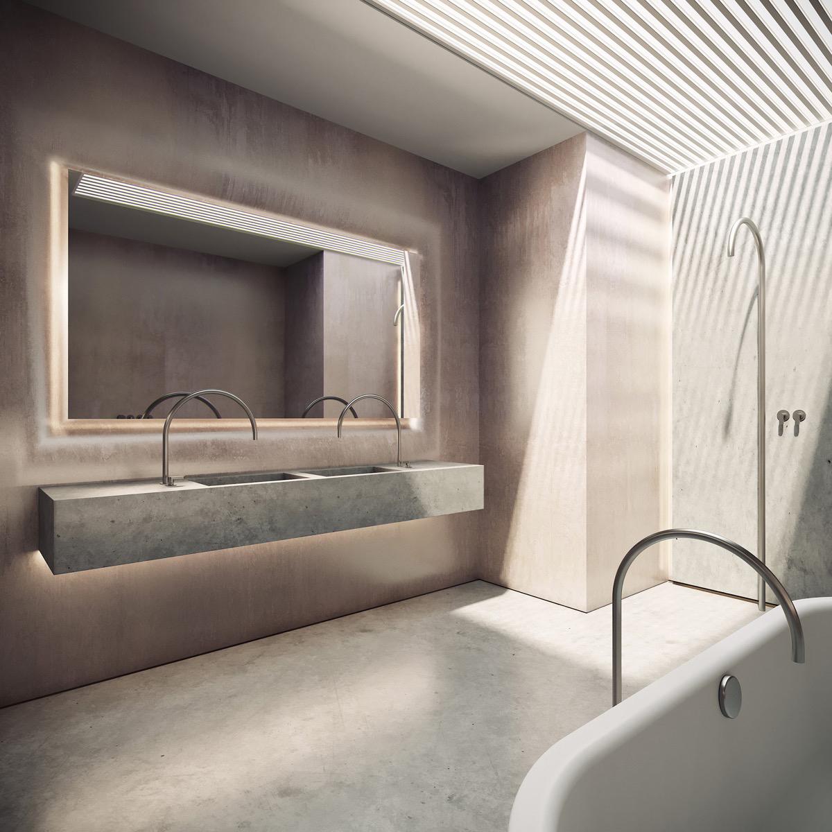 concrete-double-basin