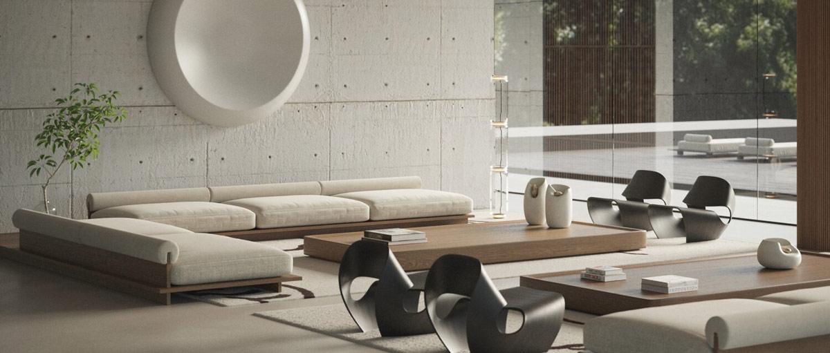 concrete-wall-living-room
