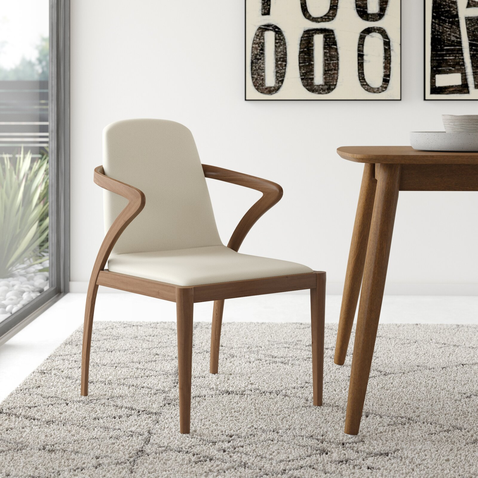 contemporary-wood-upholstered-dining-chairs-sculptural-bentwood-frame-smooth-white-faux-leather-fabric-padded-seat-and-backrest