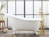 cute-cast-iron-bathtub-all-white-design-single-slipper-shape-for-elegant-bathroom-ideas