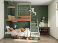 dark-green-kids-room