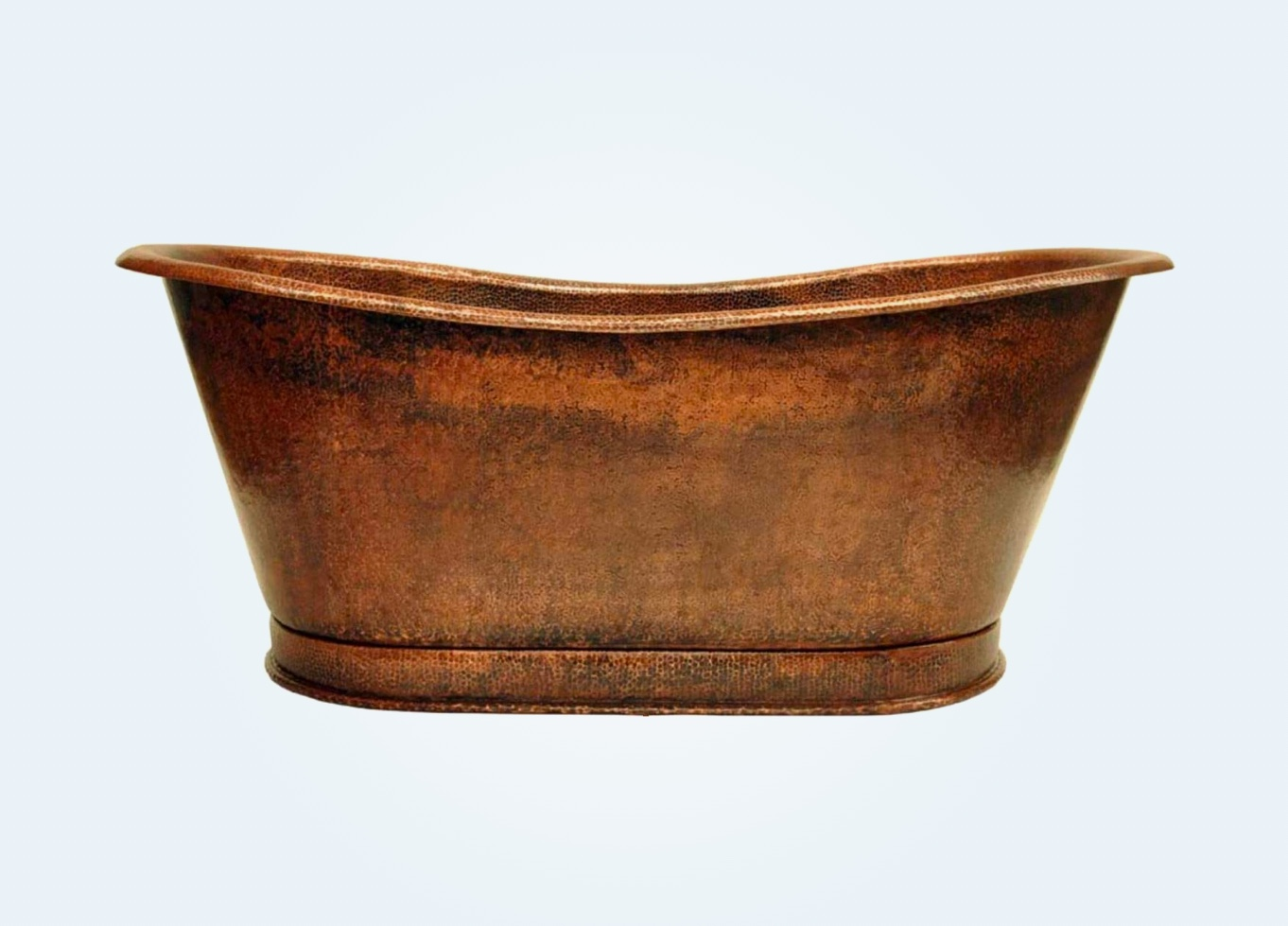double-slipper-genuine-copper-bathtub-freestanding-design-for-rustic-and-traditional-bathroom-themes
