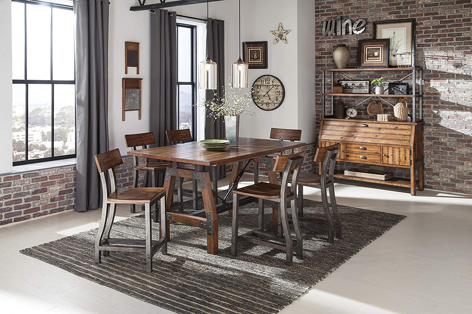 farmhouse-counter-height-dining-table-64-inch-tabletop-acacia-veneers-metal-details-industrial-rustic-furniture-for-the-dining-room