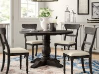farmhouse-dining-room-table-set-dark-finish-pedestal-table-and-four-chairs-with-open-back-and-off-white-upholstery-complete-set-for-country-decor
