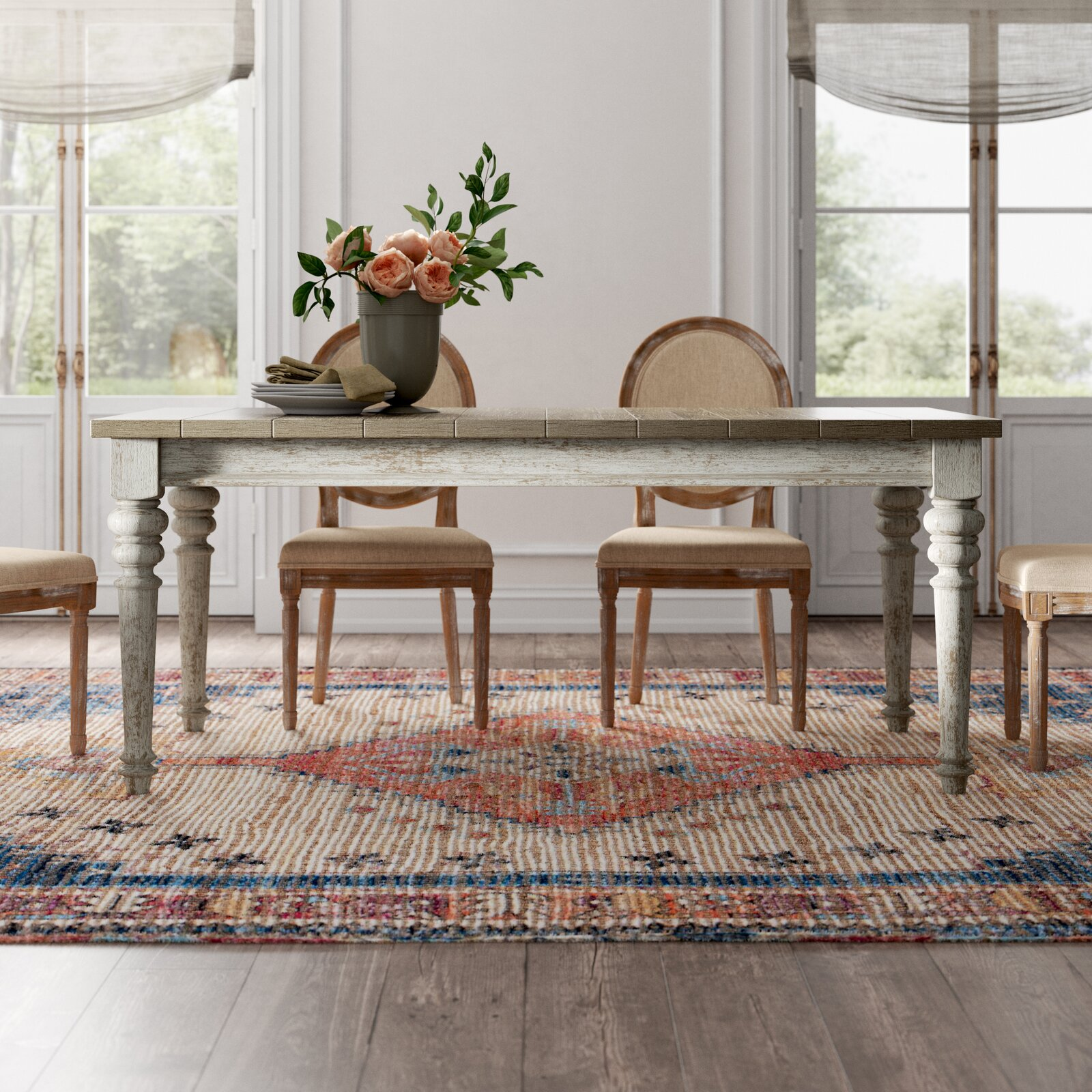 farmhouse-style-dining-table-distressed-white-base-plank-light-wood-top-72-inch-tabletop-seats-eight-classic-rustic-furniture-for-sale-online