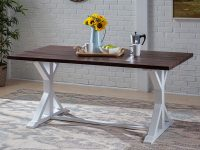 farmhouse-trestle-dining-table-white-base-dark-plank-wood-top-69-inch-tabletop-solid-acacia-wood-casual-rustic-furniture-ideas
