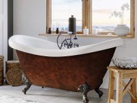 faux-copper-bathtub-clawfoot-tub-design-for-modern-and-classic-bathroom-theme-inspiration