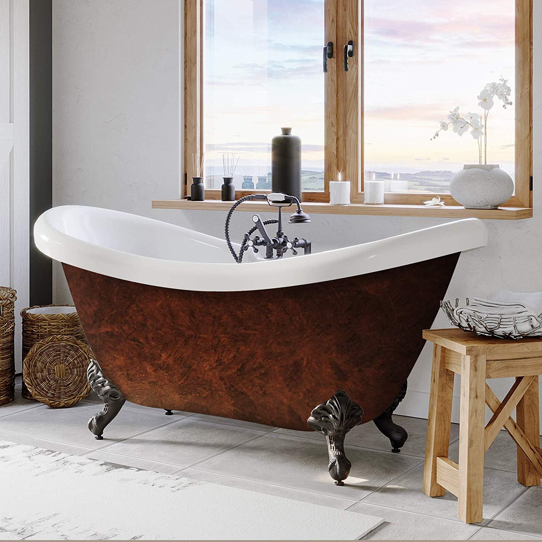 faux-copper-bathtub-clawfoot-tub-design-for-modern-and-classic-bathroom-theme-inspiration