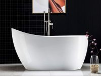 freestanding-acrylic-bathtub-slipper-shape-comfortable-bathtub-design-inspiration