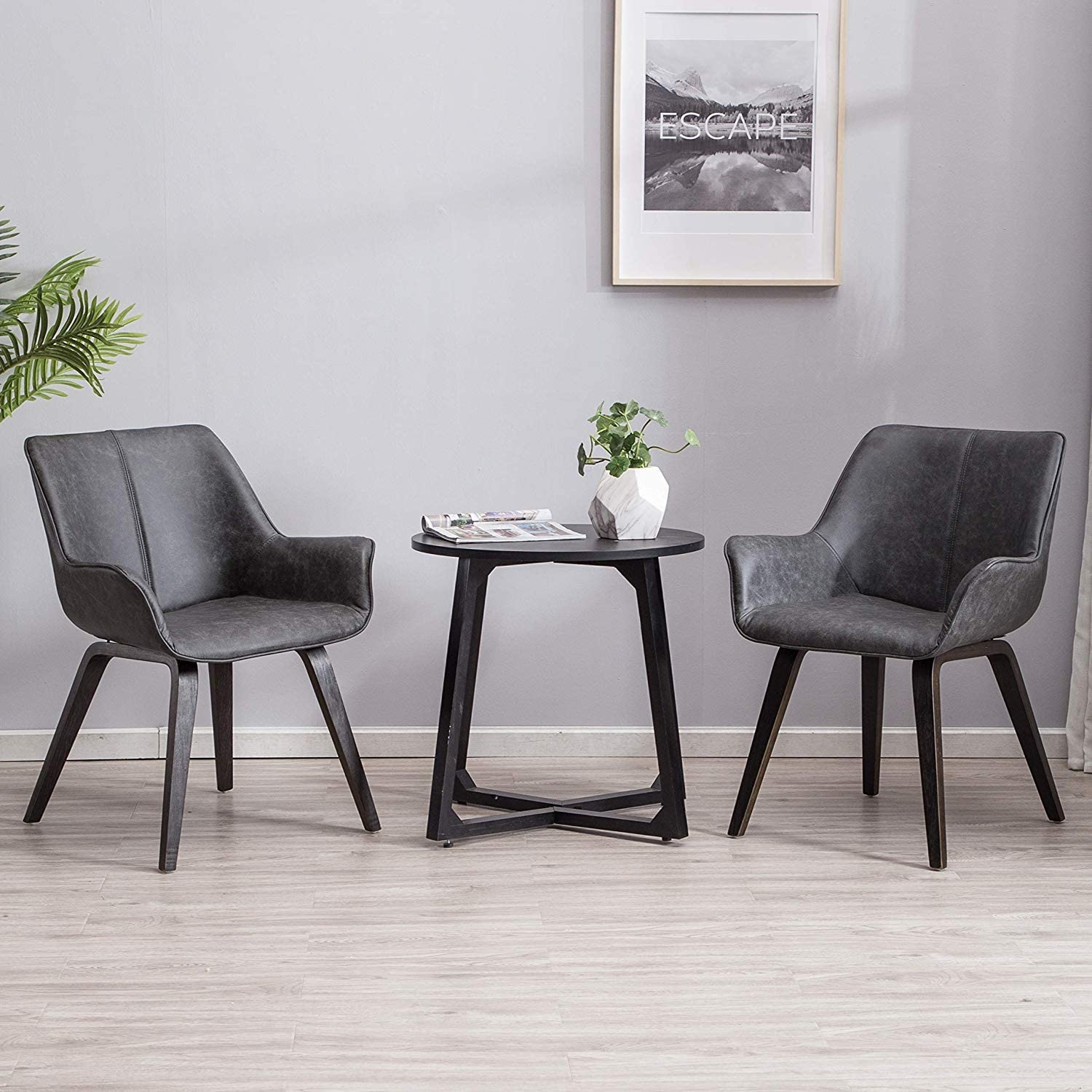 gray-upholstered-dining-chairs-with-armrests-neutral-themed-faux-leather-upholstery-bentwood-legs-set-of-two-modern-seats-for-dining-room