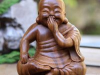 happy-buddha-statue-solid-wood-carved-Suar-handmade-sculpture-by-Wayan-Rendah-signed-by-artist-unique-feng-shui-gift