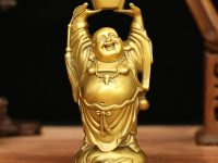 laughing-buddha-statue-with-ingot-shiny-gold-finish-interior-decor-gift-idea-to-bring-wealth-into-the-home