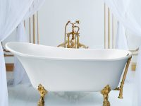 luxurious-gold-clawfoot-soaking-tub-single-slipper-design-sophisticated-bathroom-inspiration