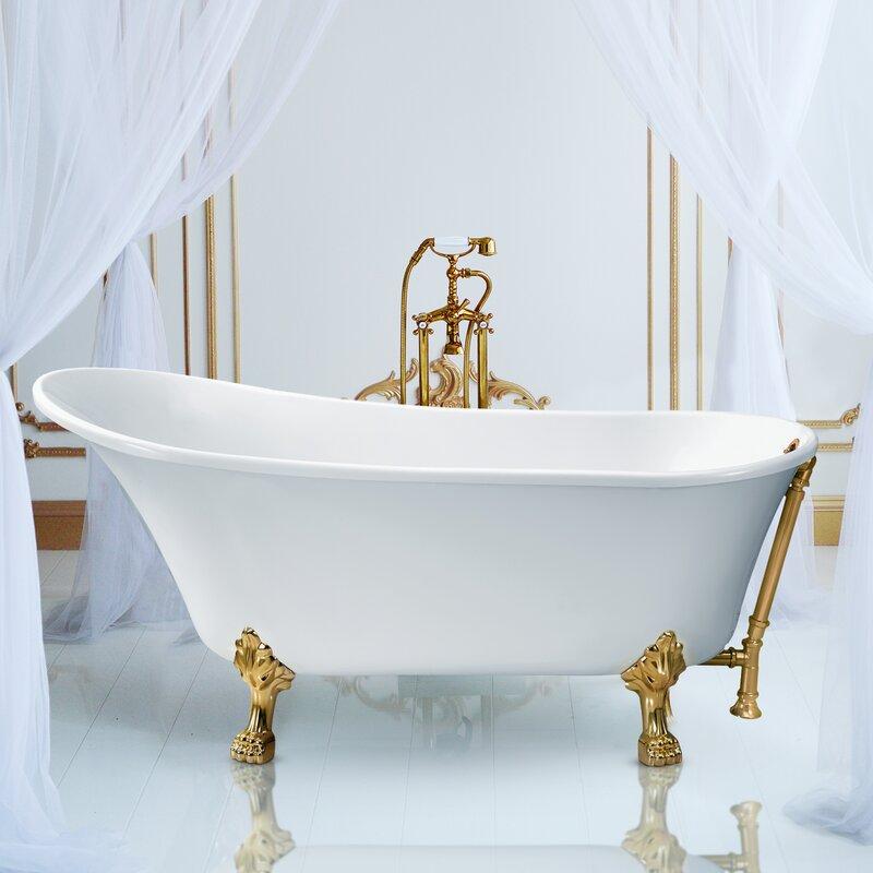 luxurious-gold-clawfoot-soaking-tub-single-slipper-design-sophisticated-bathroom-inspiration