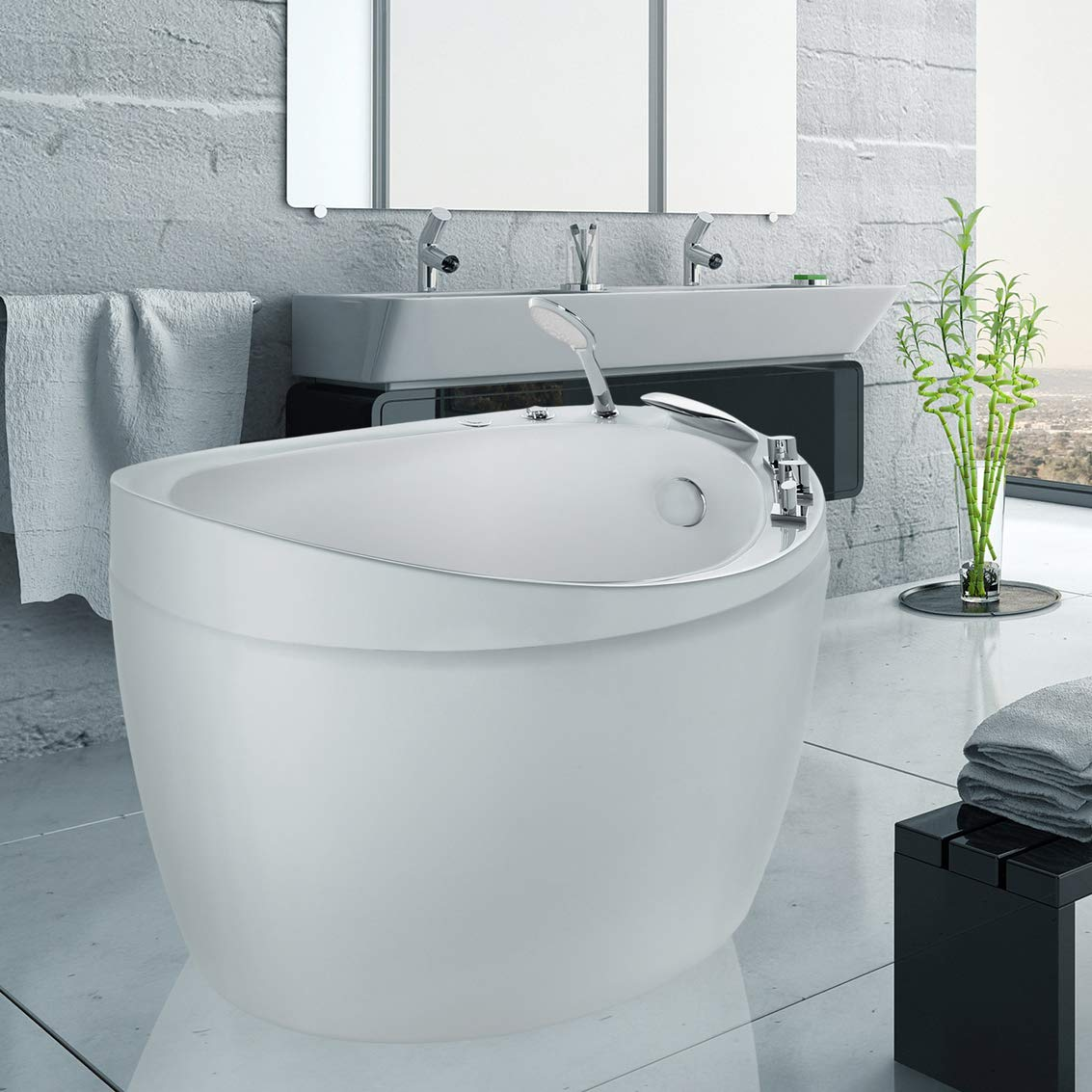 luxurious-japanese-bathtub-small-design-with-built-in-hand-shower-and-microbubble-jets