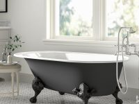matte-black-clawfoot-bathtub-for-modern-bathroom-themes