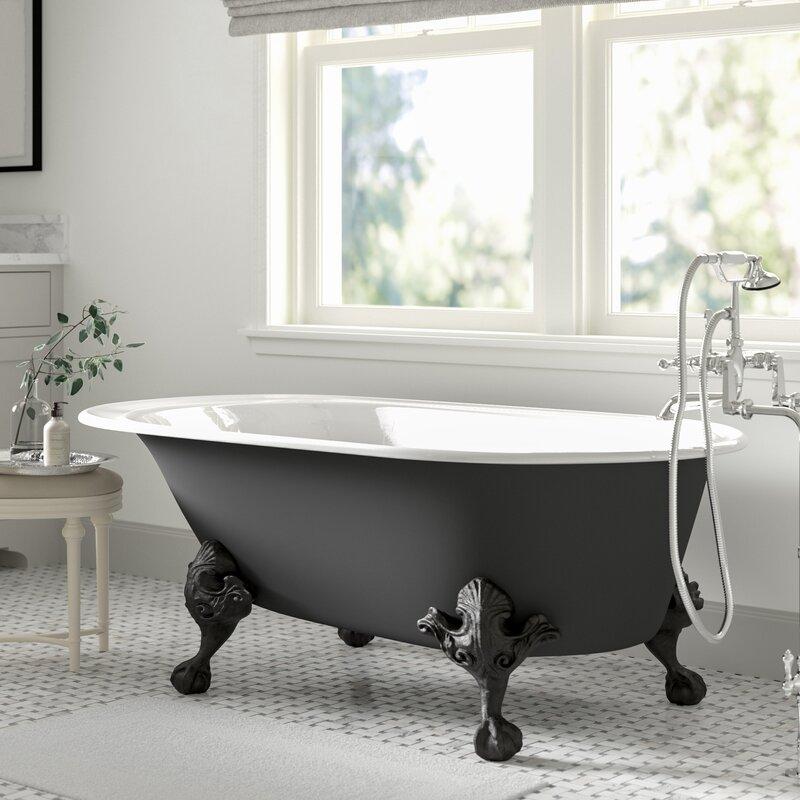 matte-black-clawfoot-bathtub-for-modern-bathroom-themes