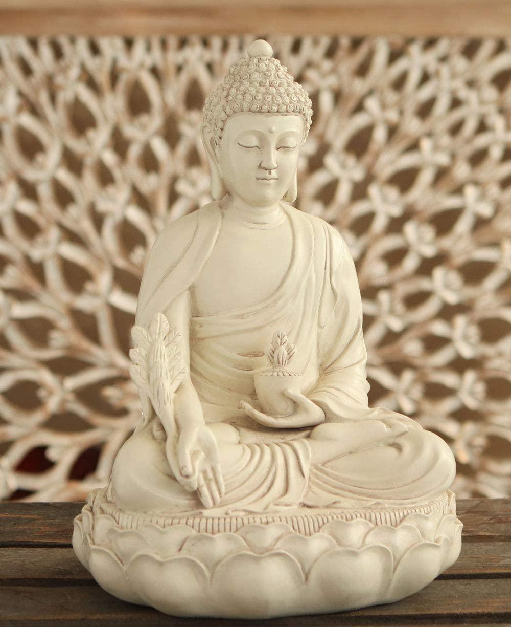 medicine-buddha-statue-white-finish-beautiful-bhaisayaguru-sculpture-spiritual-gift-cast-stone-healing-decor