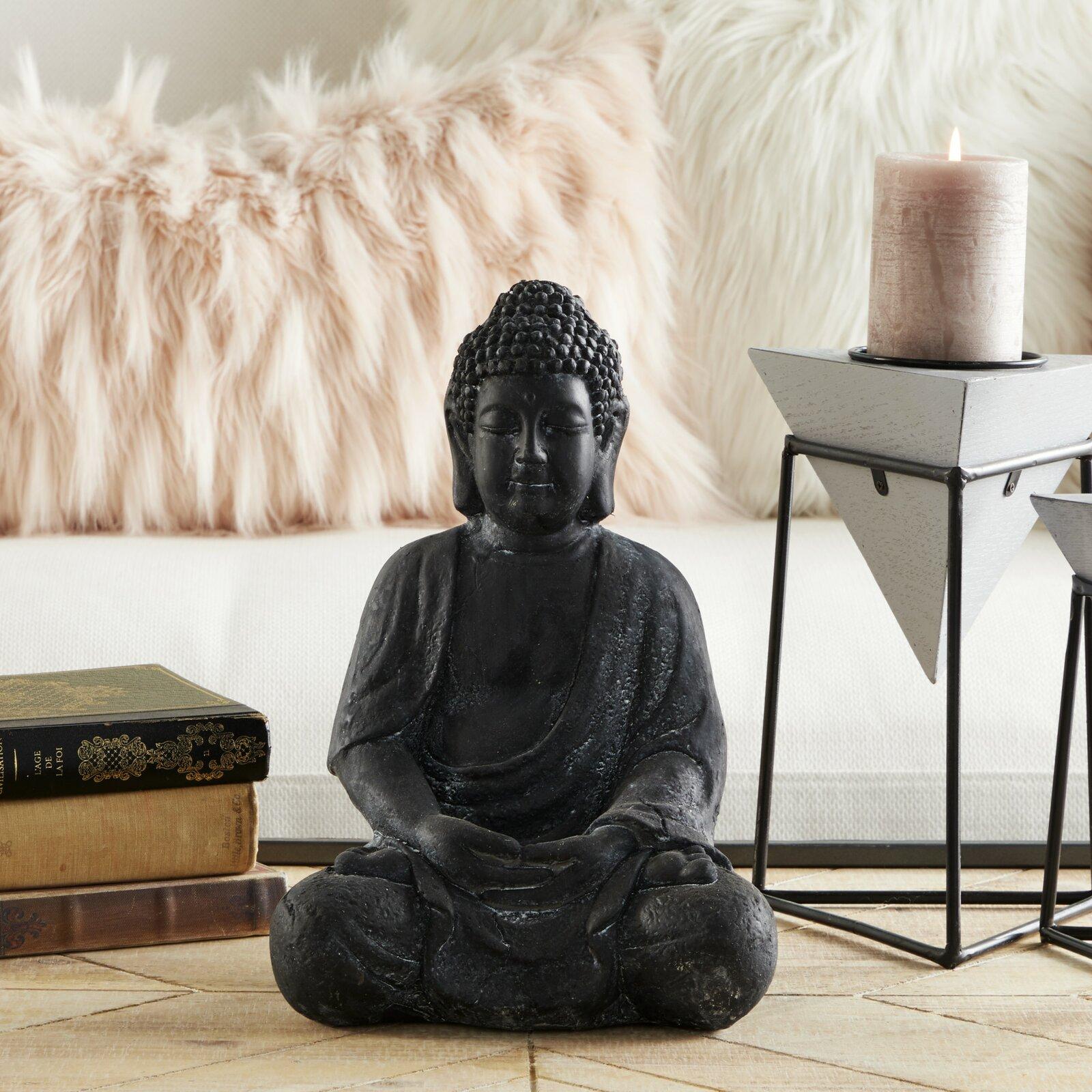 meditation-buddha-statue-dark-black-finish-12-inch-weathered-clay-sculpture-heavy-high-quality-buddhist-decor-for-interior-meditation-area