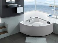 minimalist-corner-tub-with-jets-handheld-shower-backrest-built-in-waterfall-and-towel-bar