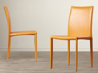 modern-parsons-dining-chairs-upholstered-orange-faux-leather-unique-chair-with-upholstery-on-legs