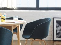 modern-upholstered-dining-chairs-Scandinavian-designer-furniture-molded-plywood-legs-light-finish-dark-blue-fabric