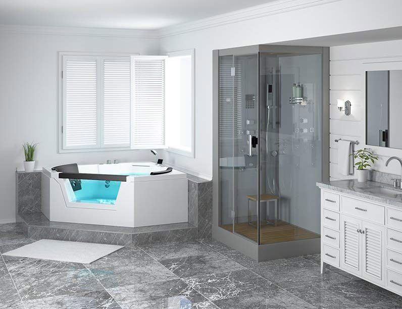 modern-whirlpool-bathtub-for-corner-installation-clear-side-panel-two-person-backrests-built-in-shower-bluetooth-speakers