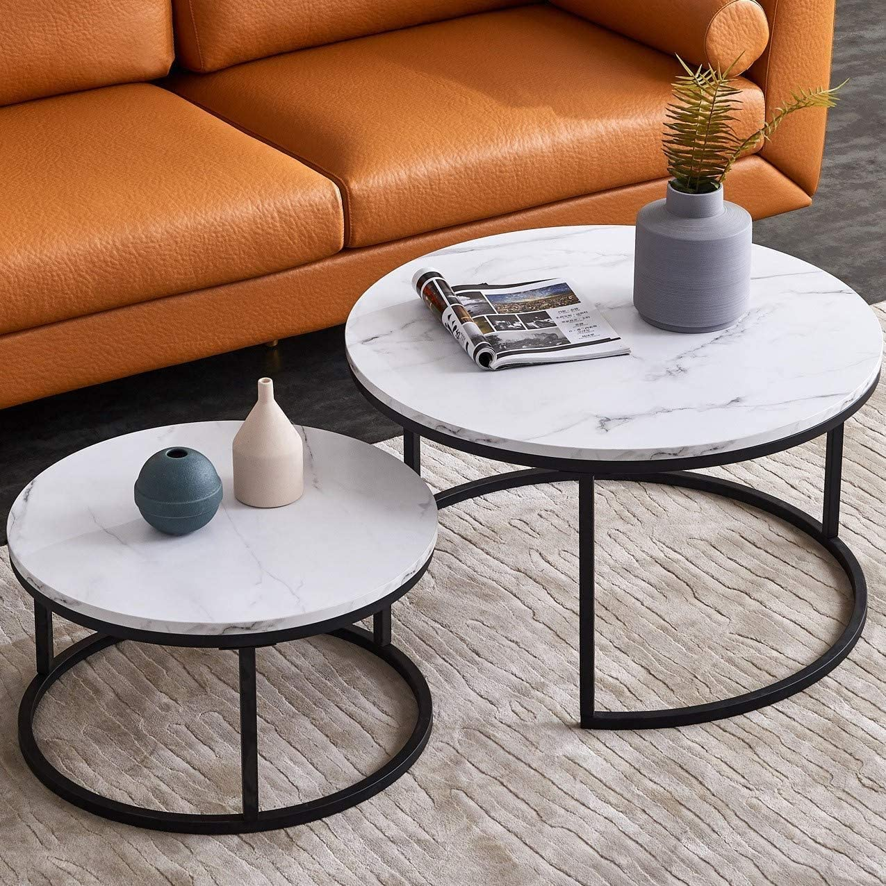 nesting-black-and-white-coffee-table-with-faux-marble-tabletops-matte-base-space-saving-living-room-furniture-ideas
