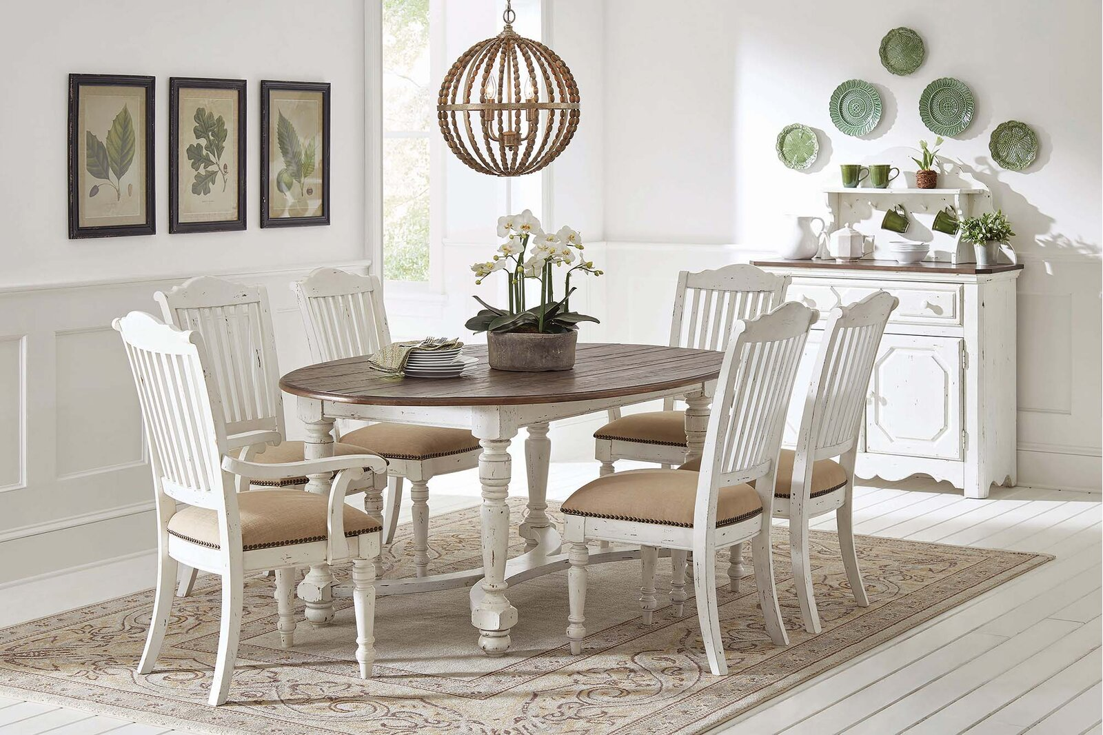 oval-farmhouse-dining-table-for-sale-online-rustic-distressed-white-furniture-with-wood-top-seats-eight-1