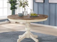 round-farmhouse-dining-table-plank-pine-top-antique-white-pedestal-base-with-curved-legs-french-country-furniture-ideas