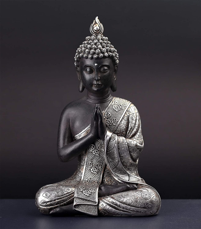 silver-buddha-statue-metallic-intricate-details-modern-spiritual-decor-for-contemporary-home-gift-inspiration-9-inch-sculpture-anjali-mudra