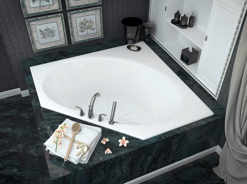 simple-single-piece-corner-drop-in-bathtub-hygienic-design