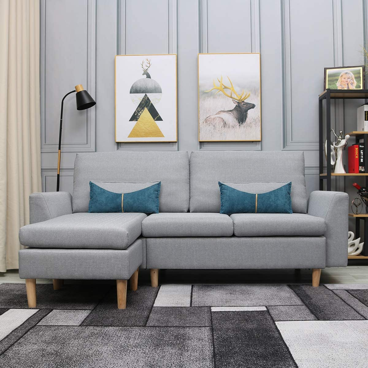 small-apartment-sectional-sofa-77-inches-couch-with-chaise-grey-upholstery-affordable-space-saving-furniture