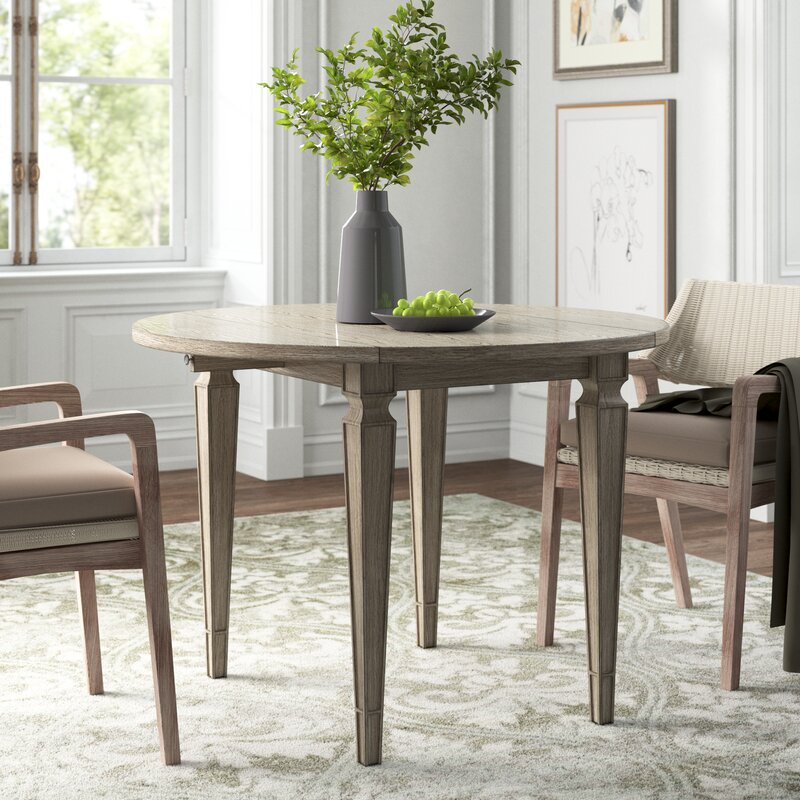 small-farmhouse-dining-table-with-tapered-legs-neutral-wood-finish-double-drop-leaf-small-table-design