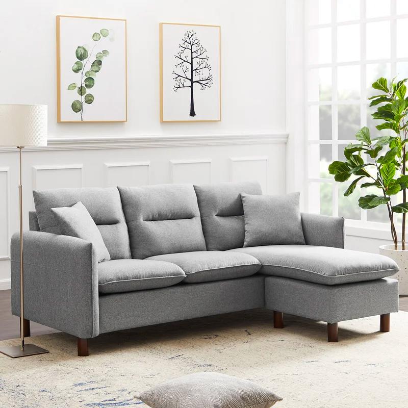 small-gray-sectional-sofa