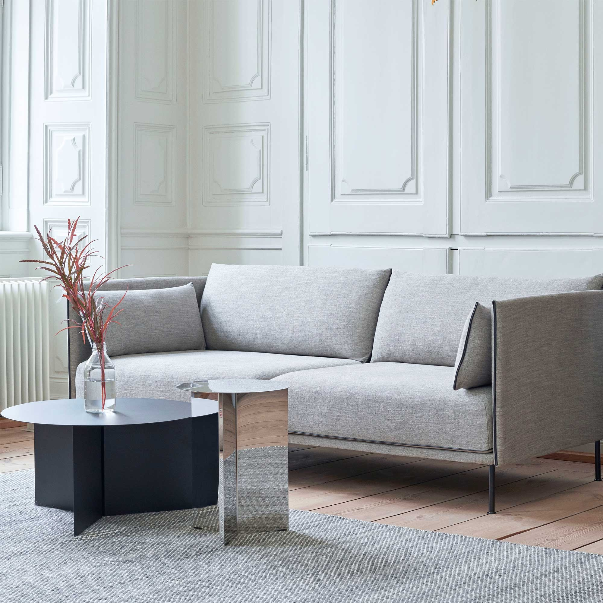 small-modern-sofa-nordic-furniture-design-67-inch-couch-grey-upholstery-with-black-contrast-piping