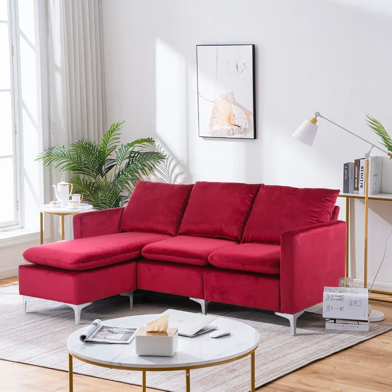 small-red-sectional-sofa