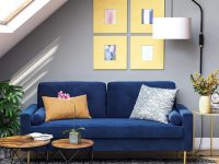 small-scale-sofa-with-blue-velvet-upholstery-and-gold-legs-bench-seat-includes-side-bolster-pillows-luxurious-furniture-ideas