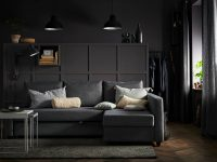 small-sleeper-sofa-IKEA-convenient-space-saving-furniture-pull-out-couch-bed-grey-upholstery-storage-chaise