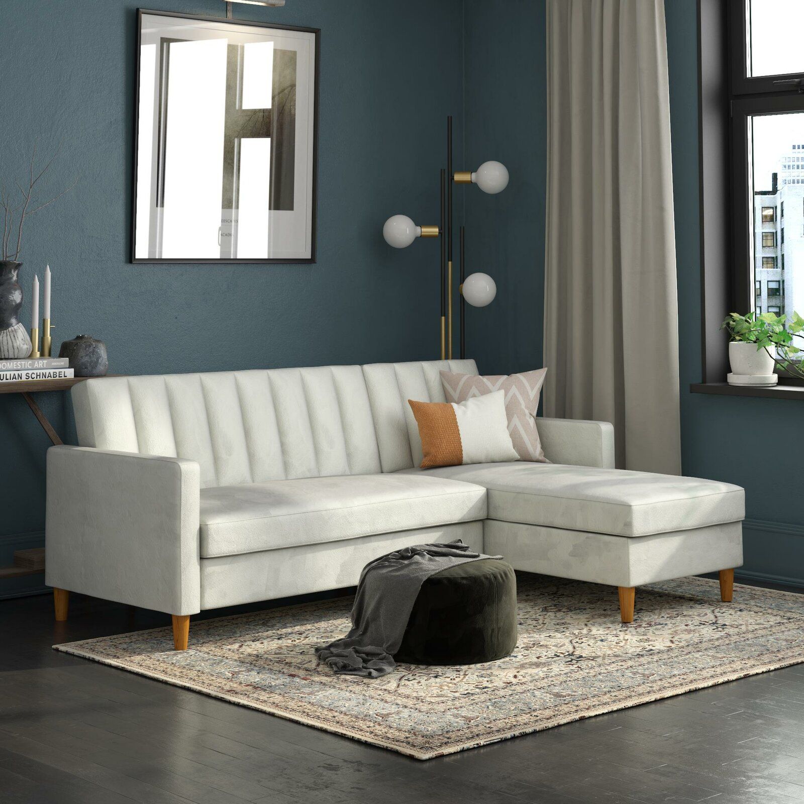 small-space-sectional-sofa-white-upholstery-channel-tufted-back-84-inch-couch-with-storage-chaise